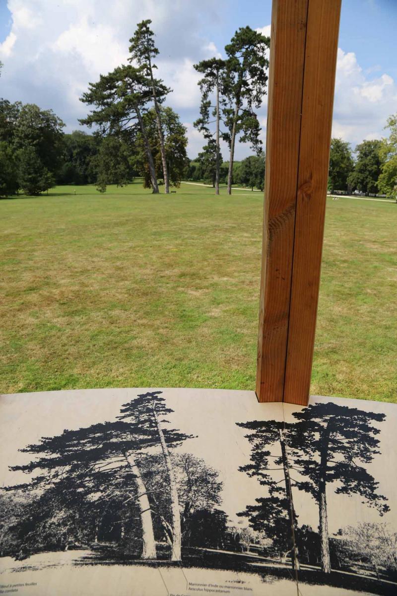 Paysage et table de lecture. Vue de l'exposition Micro-Climat