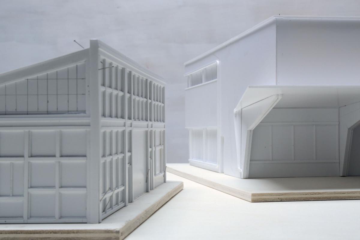 Maquettes des deux garages